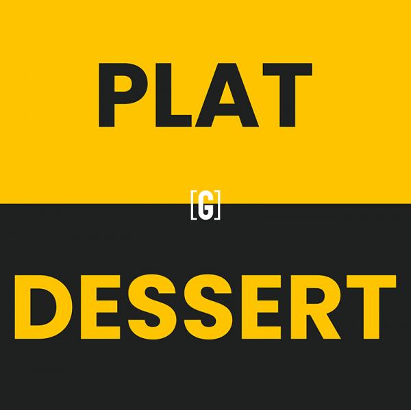 plat dessert